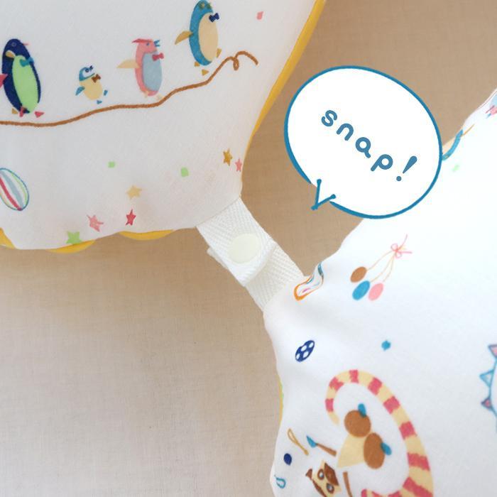 抱き枕 ロングクッション CIRCUS-サーカス-(Aタイプ) ダブルガーゼ 日本製 洗える 抱き枕 授乳クッション 妊婦 授乳まくら マタニティ 赤ちゃん お座り 練習|hashkude|09