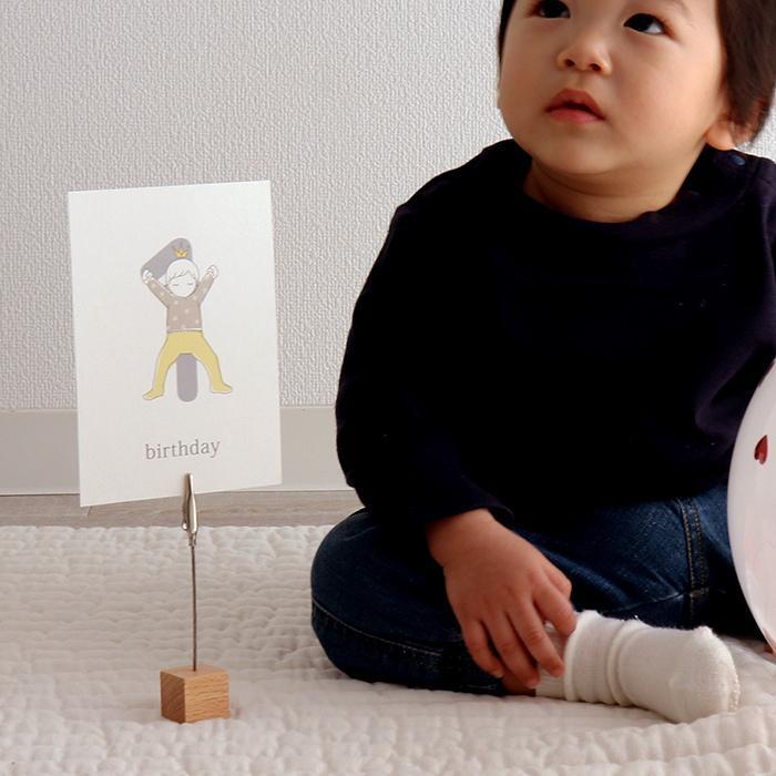 マンスリーカード【寝相イラスト】 14枚入り 月齢カード A6サイズ 月齢フォト ギフト 出産祝い hashkude 09
