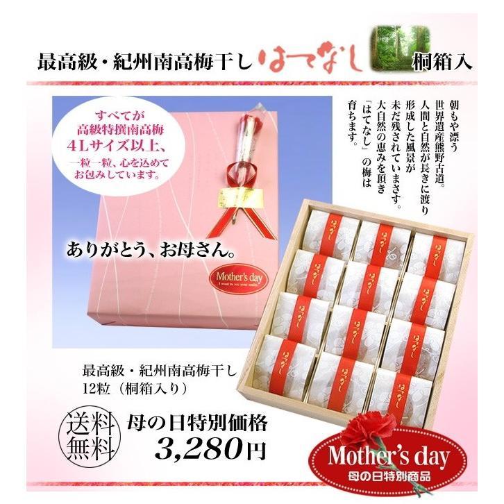 母の日 梅干し 母の日ギフト 最高級 超大粒一粒包装(塩分7%)|hatenasi|02