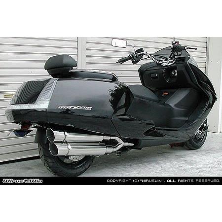 上品なスタイル バイク マフラー ウイルズウィン WirusWin スタイリッシュツインマフラー ポッパー MAXAM(SG17J) 152-14-03 取寄品 セール, yes style 098714b5
