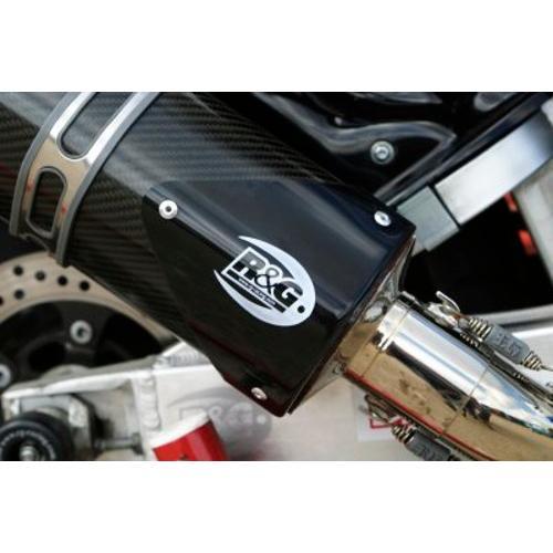 R 永遠の定番 G エキゾーストプロテクター ブラック まとめ買い特価 RG-EP0007BK2 アールアンドジー 右 トライオーバル