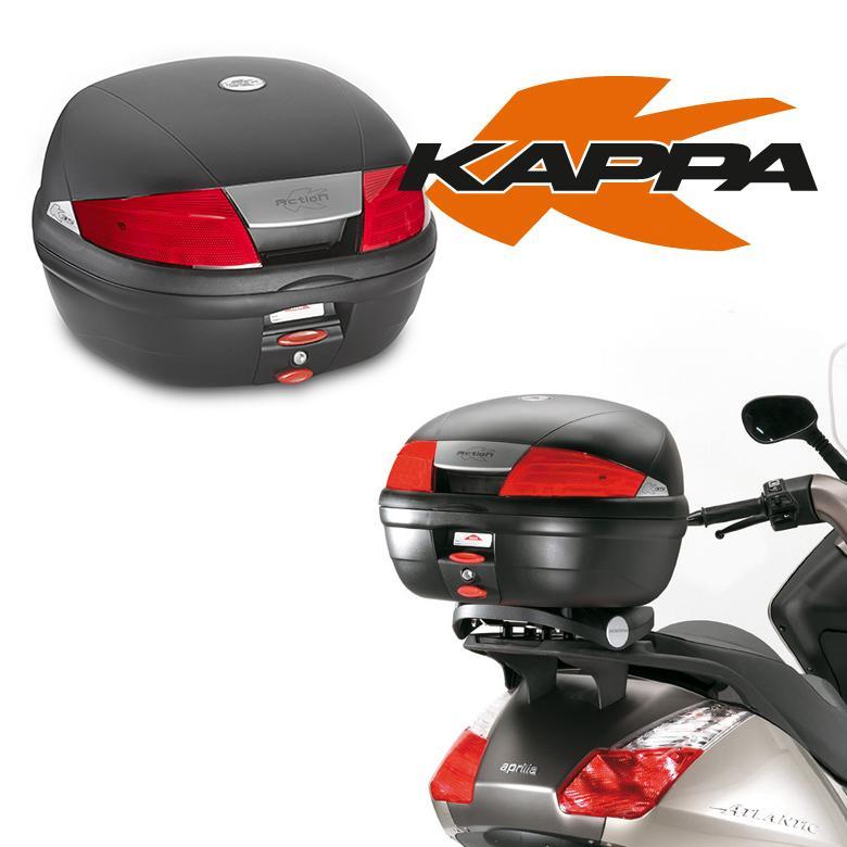 バイクリアボックス 35リットル 取付ベース付 ブラック 黒 鍵付き KAPPA カッパ Monolockトップケース K35