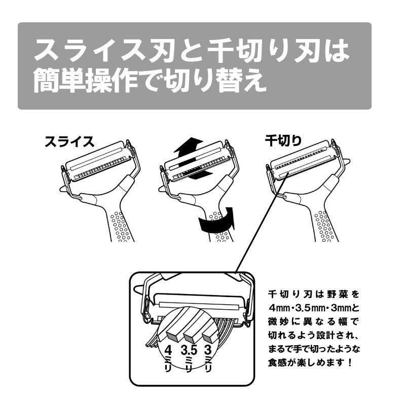 2役ワイドピーラー (薄切り 千切り) 送料¥250(1個まで) hatsumei-net 02