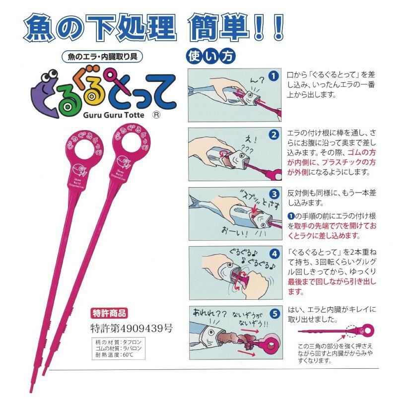 ぐるぐるとって (魚のエラと内臓を簡単にとることができる グルグル)|hatsumei-net|02