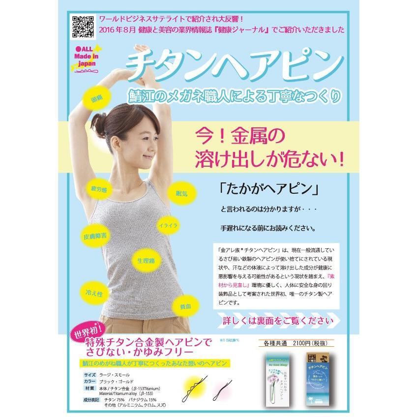 お肌をいたわるチタンヘアピン 2本入り(チタンヘアピン 金属アレルギー対策) 送料\250(3セット以上送料無料)|hatsumei-net|03