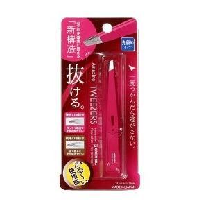 グリーンベル 驚きの毛抜き 先斜めタイプ ローズ GT−224 毛抜き 眉毛 ステンレス 日本製 棘 新色 メール便なら7点までOK 受注生産品