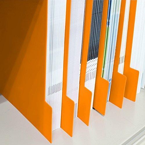 仕切りガイド バーチカル A4 専門店 通常便なら送料無料 タテ型 仕切り板 書類 ファイル 棚 引き出し 仕切り オレンジ 本棚 収納 10枚セット トレー