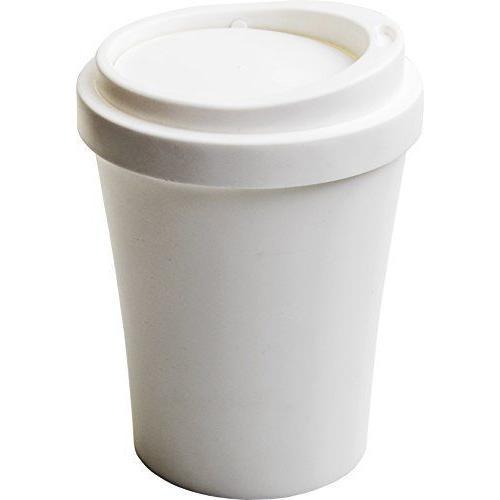 クオリー ゴミ ごみ 箱 ダストボックス 卓上 蓋付き 小さい コンパクト コーヒービン 白 ホワイト 約16×16×21cm 521704|hattiru-kusu