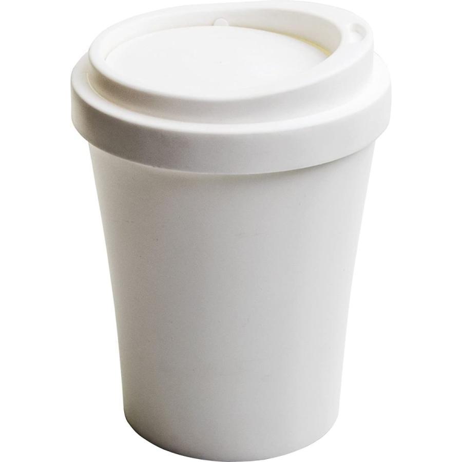 クオリー ゴミ ごみ 箱 ダストボックス 卓上 蓋付き 小さい コンパクト コーヒービン 白 ホワイト 約16×16×21cm 521704|hattiru-kusu|04