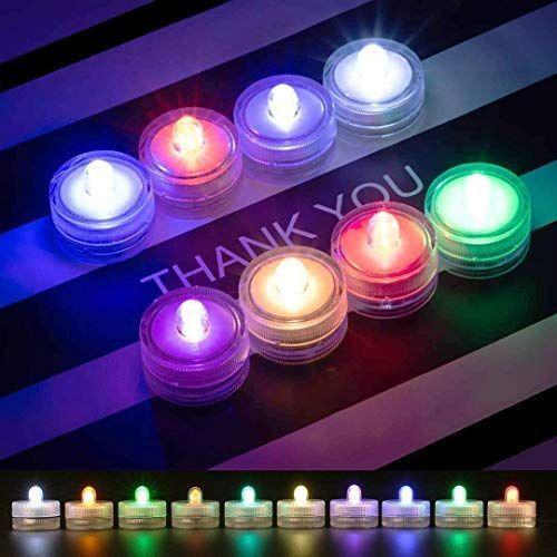 超定番 TopYart LED潜水ライト 正規品 RGB光るライト 防水 水中ライト 花瓶 金魚鉢 インテリア 水槽 プール 水中照明 お風呂 水族館 クリ