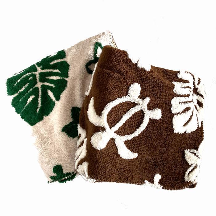 ブランケット ひざ掛け 夏 オフィス ひざかけ 至上 毛布 ベージュ 安売り ハワイアン 冷房対策 ブラウン 夏用 ホヌとモンステラ