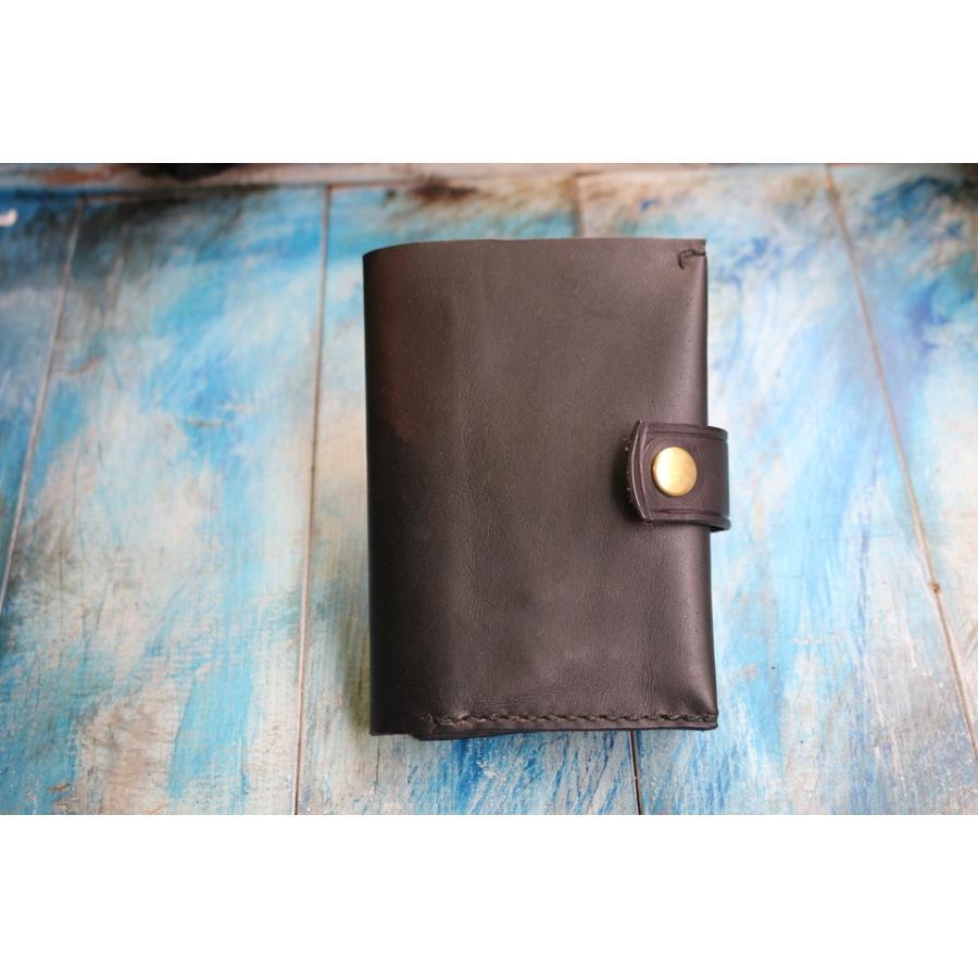 【days craft】EVO kipskin color.BK コンパクト カード多収納 二つ折り 本革|hazardholiday