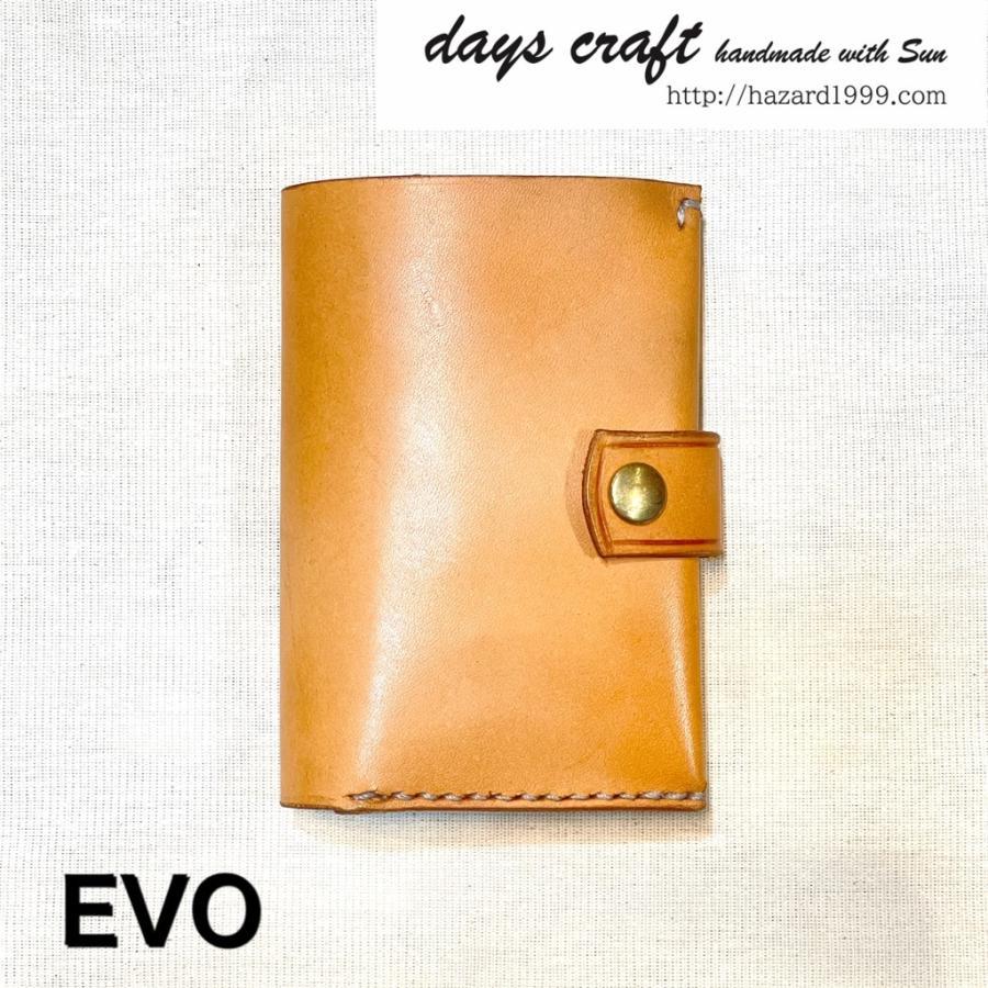 【days craft】EVO kkLeather color.ナチュラル コンパクト カード多収納 二つ折り 財布 hazardholiday