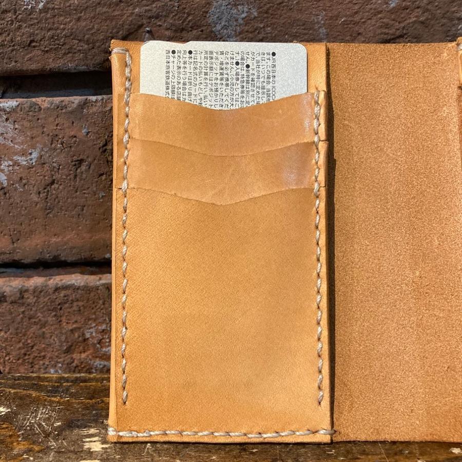 【days craft】EVO kkLeather color.ナチュラル コンパクト カード多収納 二つ折り 財布 hazardholiday 04
