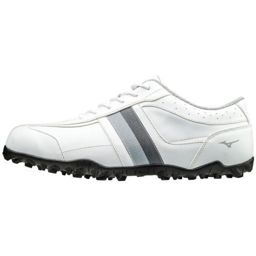 ミズノ ティーゾイド ゴルフ スパイクレス シューズ スパイク 51GQ168503250 (ホワイトxグレー) 25.0cm 送料無料