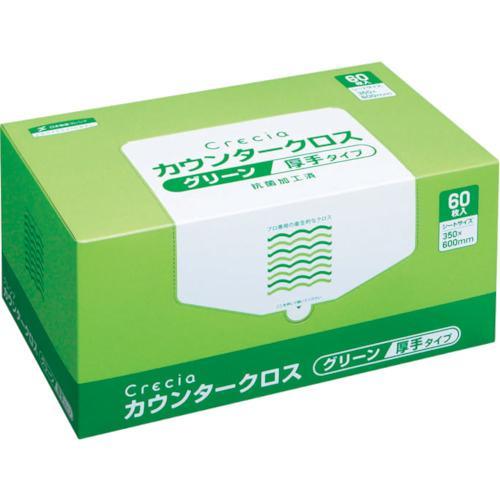 クレシア カウンタークロス 厚手タイプ グリーン 1Cs 65312 ※配送毎送料要