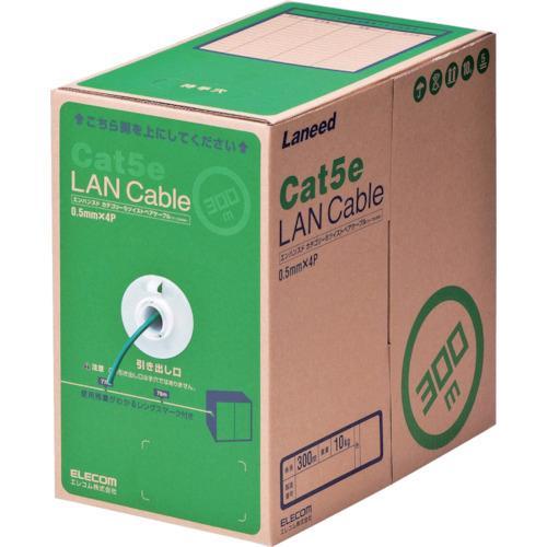 エレコム EU RoHS準拠LANケーブル CAT5E 300m ダークグリーン 1箱 LDCT2DG300RS ※配送毎送料要