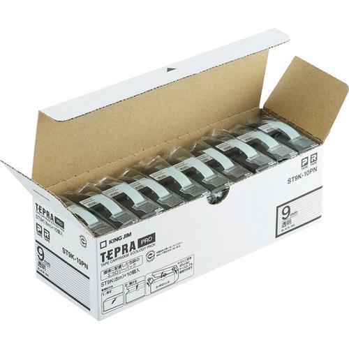 キングジム 「テプラ」PROテープエコパック(10個入り)透明 1Pk ST9K10PN ※配送毎送料要