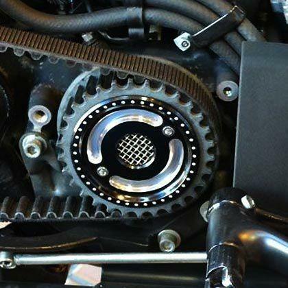 RSD 0217-2007-BM ローランドサンズ 日本産 デザイン フロントプーリーカバー コントラスト スポーツスター 2004〜2021 ランキング総合1位