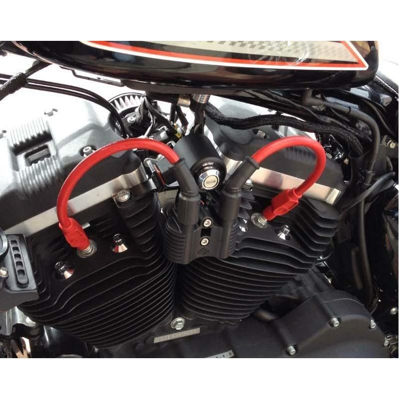 DKカスタム 激安格安割引情報満載 DK-WRS-RED-10 PRO RACE スパークプラグコード スポーツスター レッド 2007〜2021 お得なキャンペーンを実施中 センターコイル用