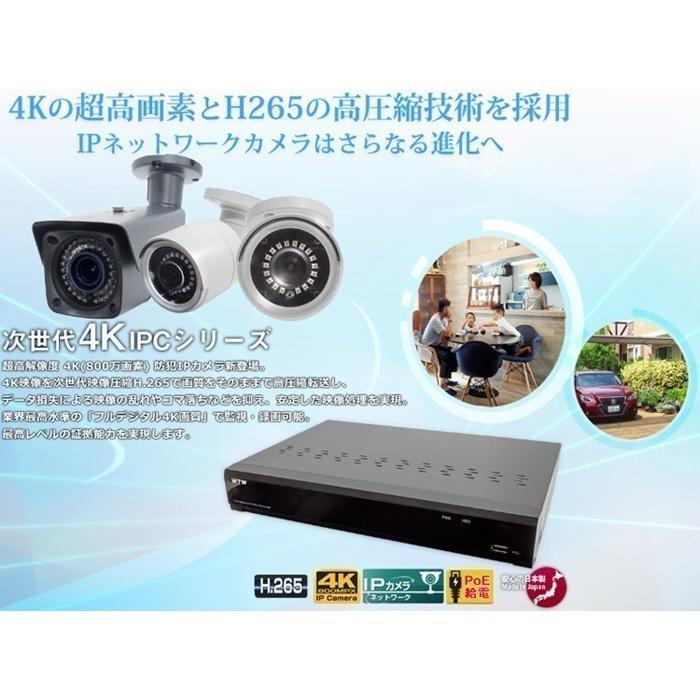 音声録画対応 防犯カメラ 800万画素 ドーム型 監視カメラ 遠隔監視可能 防犯録画機 NVR レコーダー IPカメラ HDC-4K800IPC06 WTW-PDRP4615EA2 WTW-NV404EP2|hdc|08