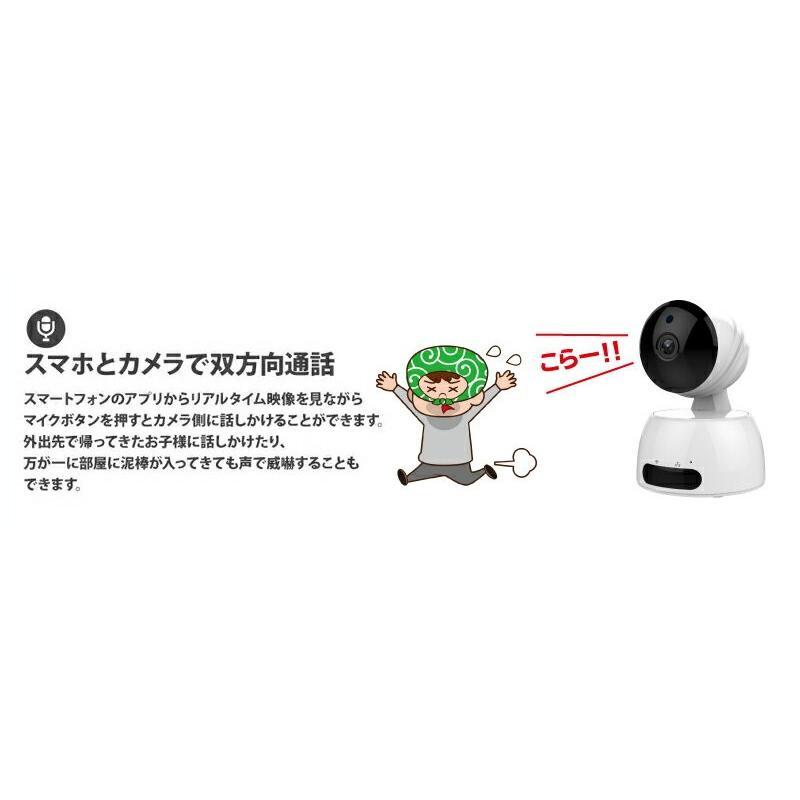 見守りカメラ ベビーカメラ 送料無料 ペットカメラ ネットワークカメラ 防犯カメラ 監視カメラ PTZ 首ふり パンチルト CK-IP350|hdc|05