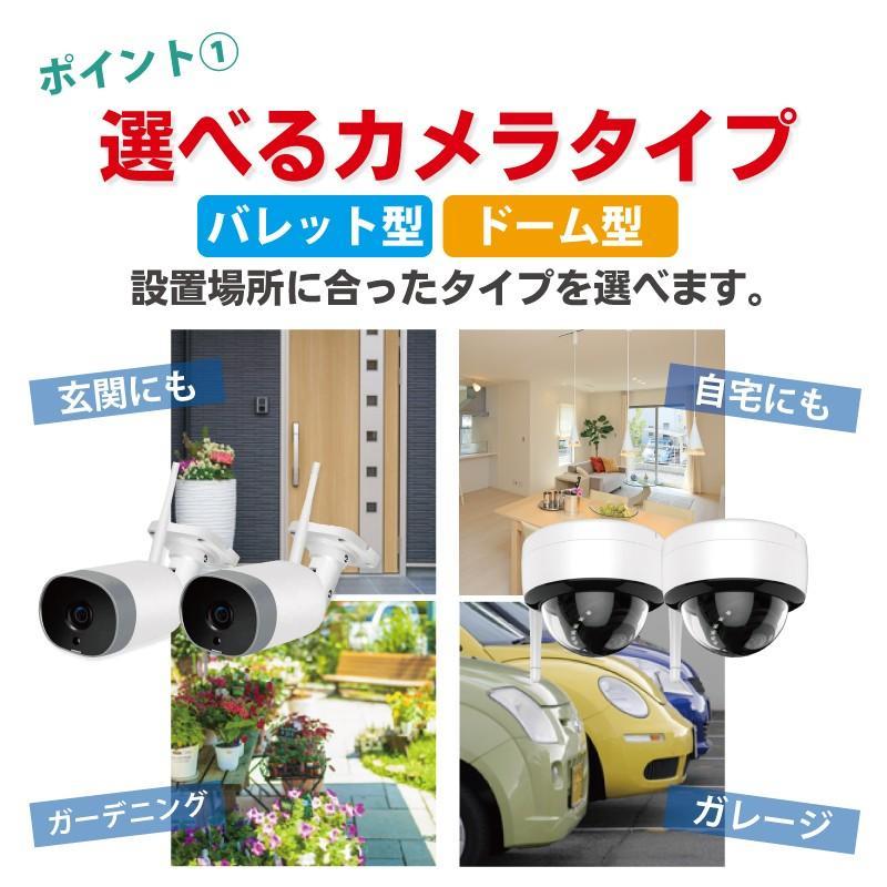 防犯カメラ ワイヤレス モニターセット WiFi ワイヤレスカメラセット 監視カメラ ワイヤレス防犯カメラ 屋外 屋内 家庭用 513万画素 CK-NVR5015|hdc|03