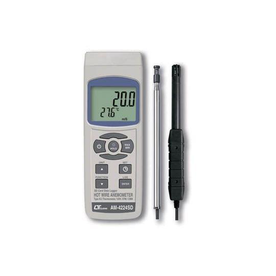 SDデータロガ式 デジタル熱線式 風速・風量計 AM-4224SD hdc