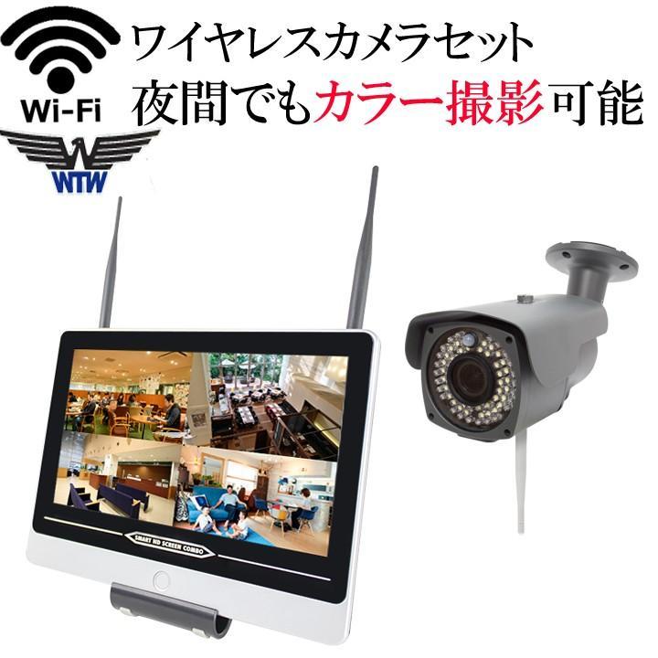 夜間でもカラー撮影 センサーライト ホワイトLED バリフォーカル ワイヤレス防犯カメラ 220万画素 WI-FI対応 台数自由 HDC-EGR04 WTW-EGSL543P2 イーグル NVR|hdc