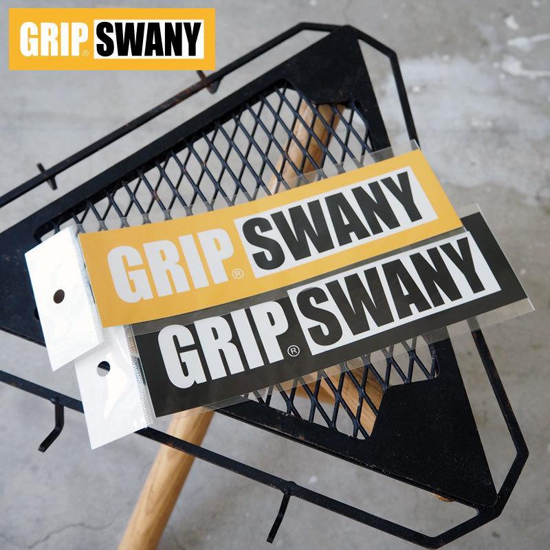 GRIP SWANY グリップスワニー 海外限定 ステッカー メール便可 GSステッカー 開店祝い GSA-58 日本製 アウトドア ロゴ キャンプ シール 定番