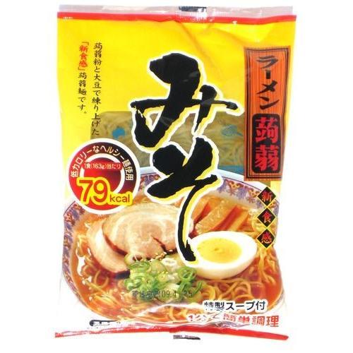 こんにゃくラーメン みそ 新品■送料無料■ 味噌 格安 12食 味 送料無料