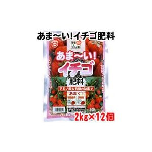 東商 あま〜いイチゴ肥料 2kg×12個 東商 あま〜いイチゴ肥料 2kg×12個 東商 あま〜いイチゴ肥料 2kg×12個 4dc