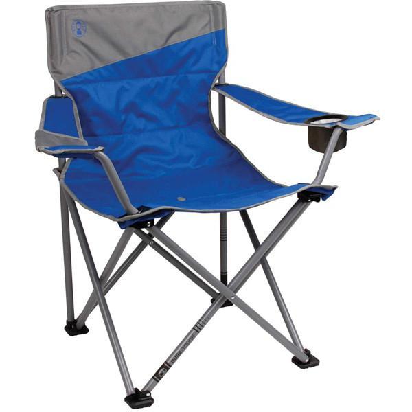 Coleman コールマン 体の大きな男性用アウトドア・チェア (ブルー) 270kgまでOK! 折りたたみ椅子