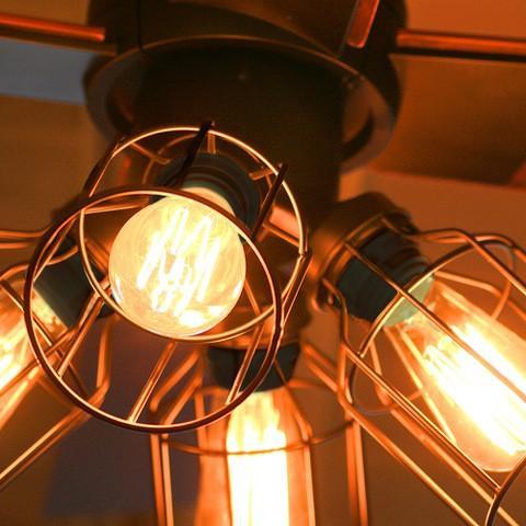 3年メーカー保証 JAVALO ELF VINTAGE Collection LED対応 4灯 シーリングファン ブラック リモコン・エジソン電球付き 簡単取り付け JE-CF001V-BK heartmark-shop 03