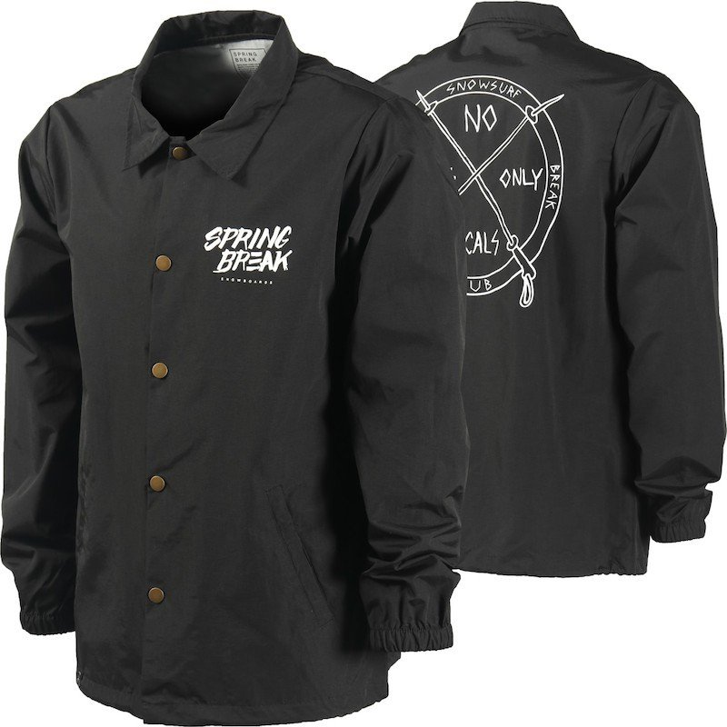 Capita Spring Break Surf Club Coach Jacket 黒 XL コーチジャケット 送料無料