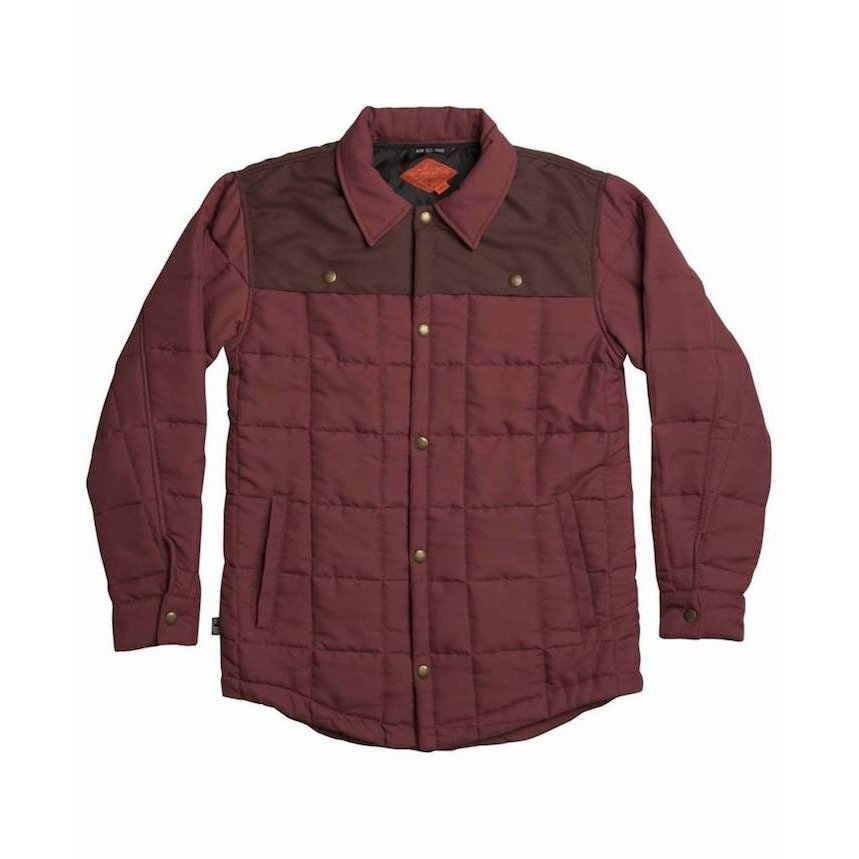 Airblaster Quilted Shirt Jacket Oxblood L 送料無料