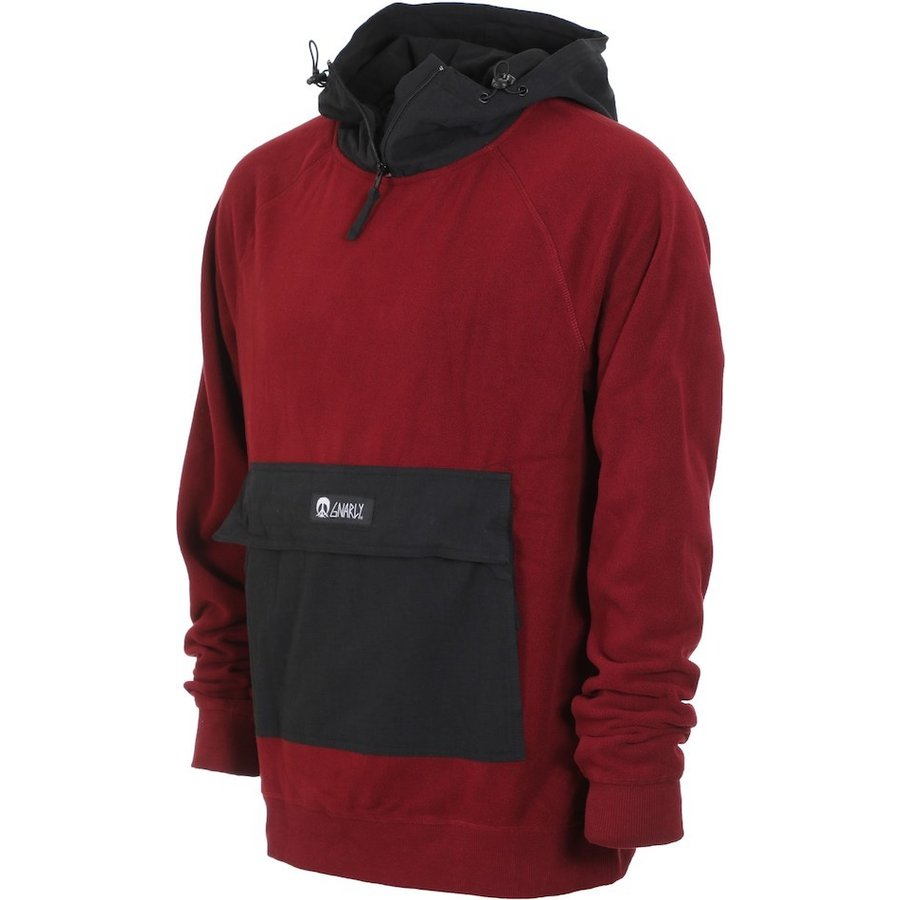Gnarly Polar Pullover Hoodie Burgundy L パーカー 送料無料