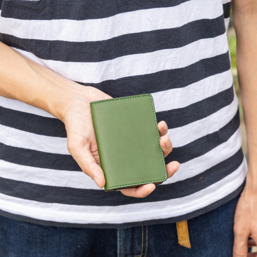 免許証入れ 二つ折り 革 定期入れ メンズ レディース カードケース|hedge|04