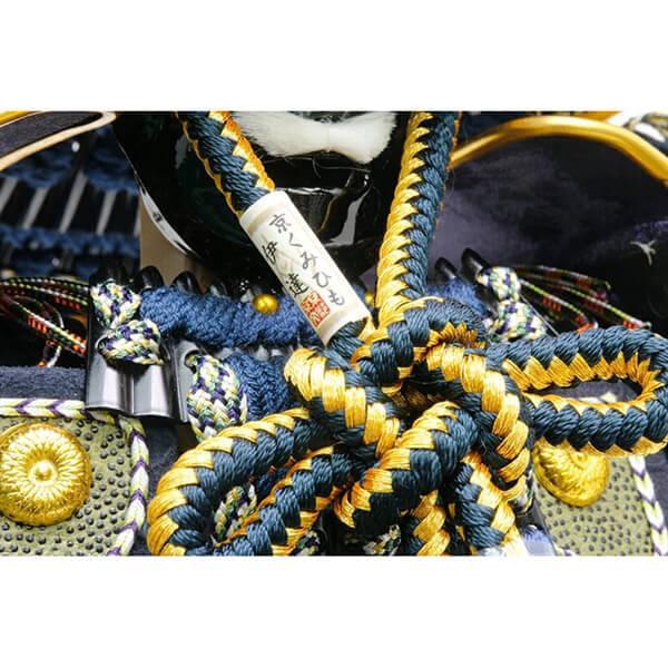 五月人形 伊達政宗 鎧 ケース飾り 甲州印伝鎧飾り 正絹藍色威 平安泉匠作 人形の平安大新 am12027|heiandaishin|11
