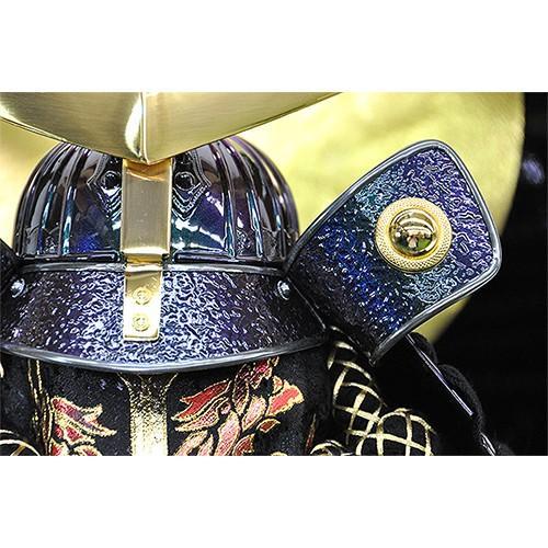【五月人形】【コンパクトサイズ】兜飾り 伊達政宗型兜 / 「弦月」が金色に輝く人気の兜飾り 人形の平安大新 hm12012 heiandaishin 03