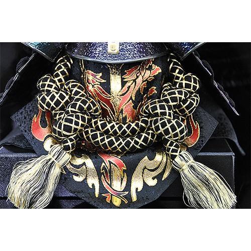 【五月人形】【コンパクトサイズ】兜飾り 伊達政宗型兜 / 「弦月」が金色に輝く人気の兜飾り 人形の平安大新 hm12012 heiandaishin 04