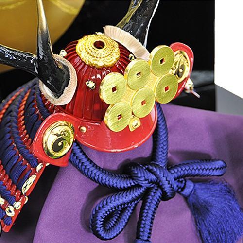 五月人形 真田幸村 兜 コンパクト 平台飾り 兜飾り 大越忠保作 人形の平安大新 hm12015|heiandaishin|03