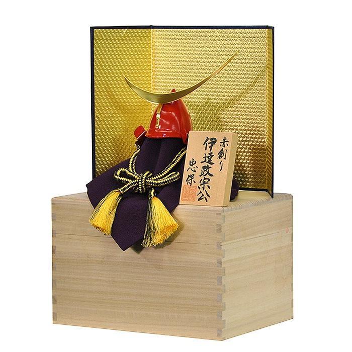 五月人形 伊達政宗 兜 コンパクト 収納飾り 正絹黒色糸縅 桐箱入り金屏風セット 本桐製 人形の平安大新 hm12041|heiandaishin|04