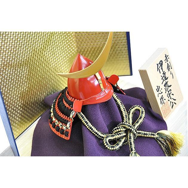 五月人形 伊達政宗 兜 コンパクト 収納飾り 正絹黒色糸縅 桐箱入り金屏風セット 本桐製 人形の平安大新 hm12041|heiandaishin|06