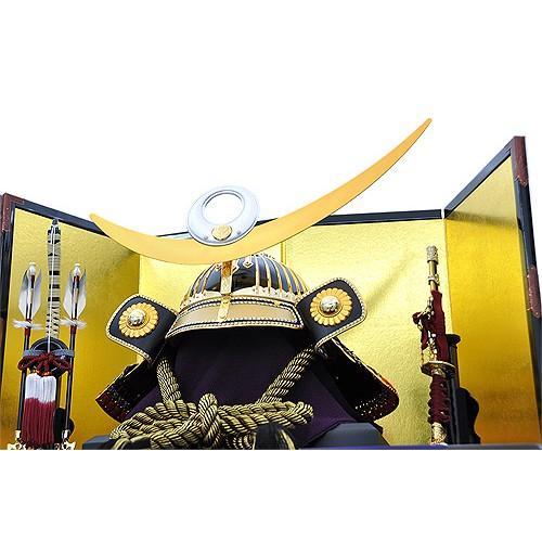 五月人形 上杉謙信 兜 収納飾り 着用兜飾り お名前袱紗付き 人形の平安大新 hm12043|heiandaishin|02