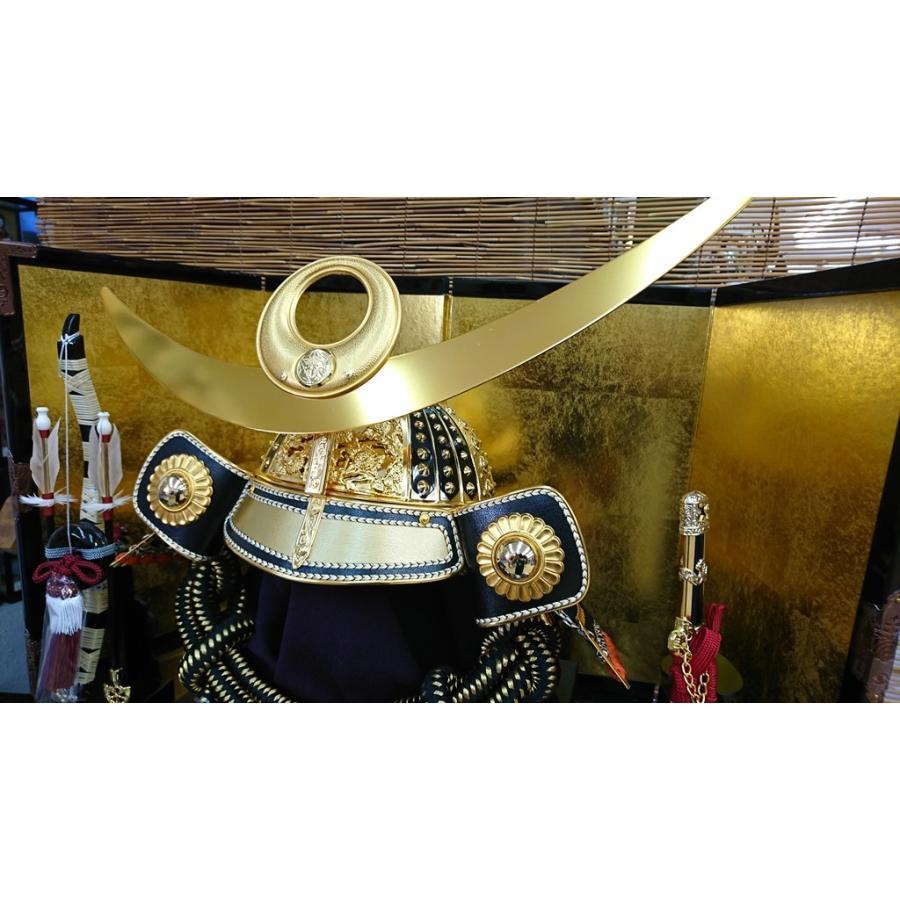 五月人形 上杉謙信 兜 収納飾り 着用兜飾り お名前袱紗付き 人形の平安大新 hm12043|heiandaishin|09