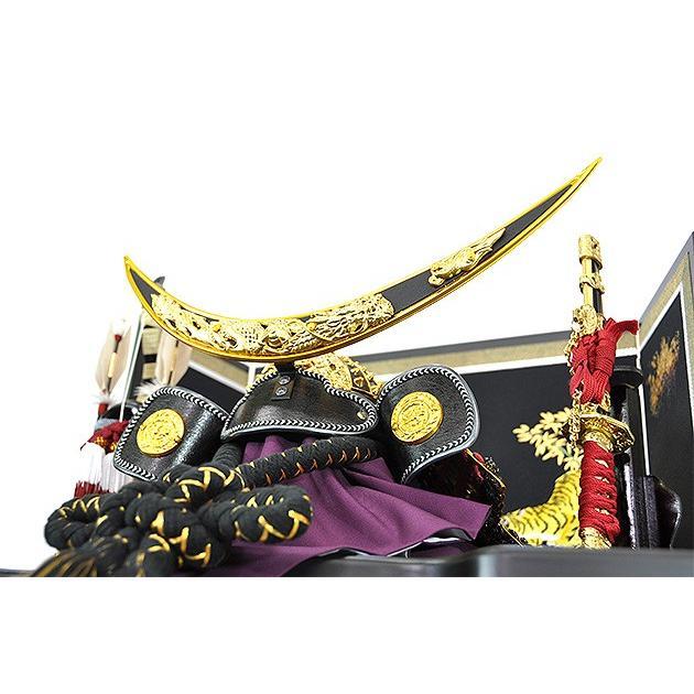 五月人形 伊達政宗 兜 コンパクト 収納飾り 兜飾り 吉右衛門作 人形の平安大新 hm12066|heiandaishin|05