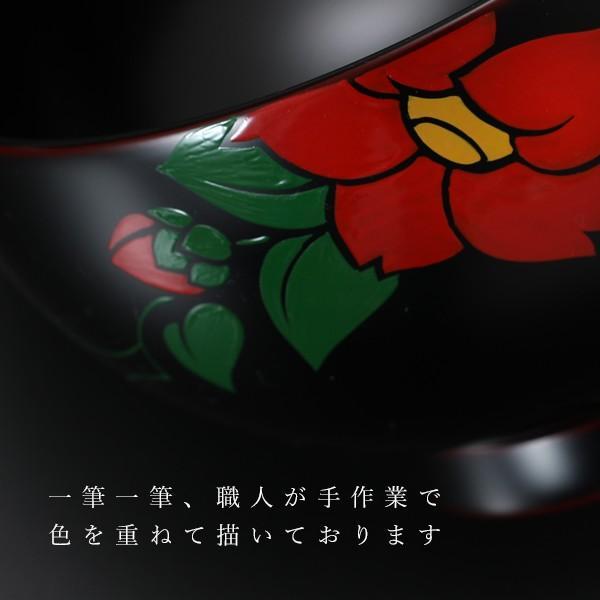 夫婦椀 椿 ペアギフト 汁椀 結婚祝い 漆塗り 木製|heiando|03