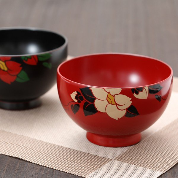夫婦椀 椿 ペアギフト 汁椀 結婚祝い 漆塗り 木製|heiando|06
