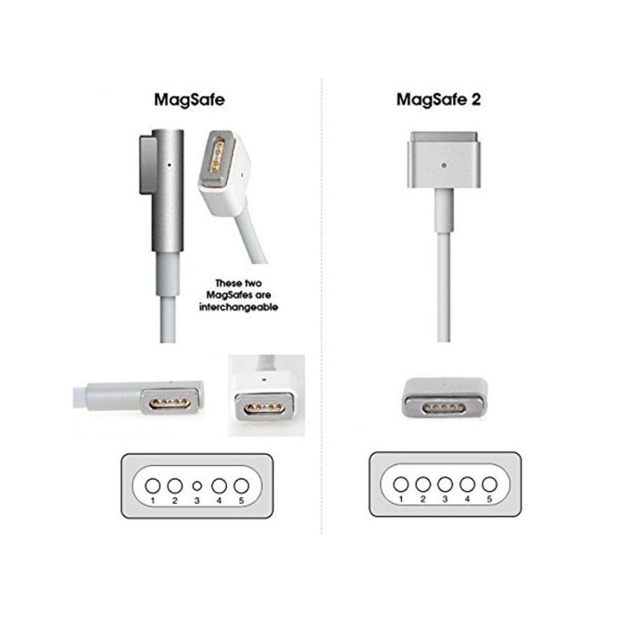 Macbook Air 電源アダプタ 45W MagSafe 2 T型 充電器 Mac 互換電源アダプタ T字コネクタ 14.85V 3.05A Macbook A1466 / A1465 / A1436 / A1435(3点以上お得)|heiman|03